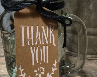 Thank You Gift Tags-Customizable Color- 12 pack
