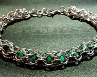 Caged Malachite Bracelet
