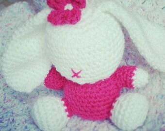 Crochet Amigurumi Bunny, Amigurumi Teddy, Amigurumi Bunny, Stuffed Bunny, Stuffed Animal Doll, Handmade Toy, Cute Bunny, Plushie Toy,