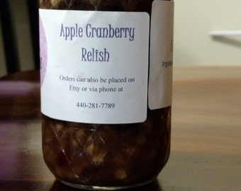 Apple cranberry relish w/walnuts (8oz)