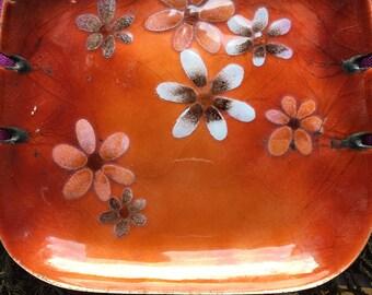 Mid-Century Bovano hand-crafted enamel ashtray