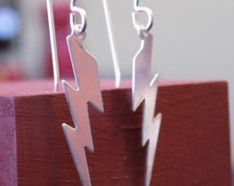 Sterling Silver Lightning Bolt Earrings Harry Potter Zeus