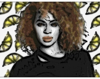 beyonce pop star singer lemonade poster print quality