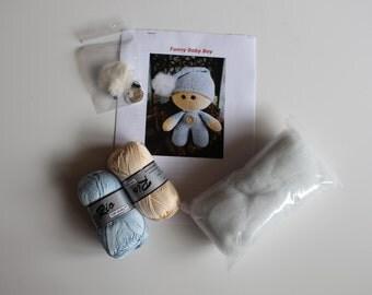 Crochet Package Funny Baby Boy
