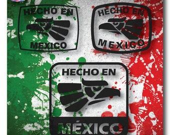 Hecho En Mexico | Digital Download - svg, dxf, png & eps - T-shirt - Stickers - Vinyl, Heat Transfer Vinyl -