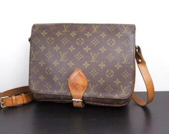 Authentic Louis Vuitton Vintage Cartoucherie (Lg) Crossbody Monogram