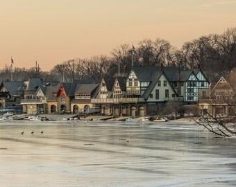 Boathouse row Winter, Philadelphia, PA