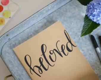 Beloved // Large Moleskine Journal // Hand-Lettered Calligraphy