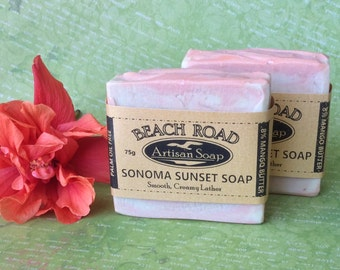 PALM FREE Sonoma Sunset Mango Butter Cold Process Handmade Soap Made in Australia