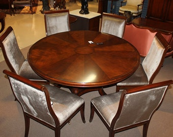 Gorgeous Flame mahogany Conference Breakfast Dining Table 60 inches Round