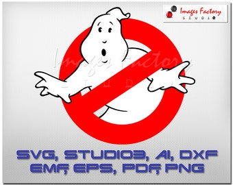 Ghostbusters, logo, cuttable Cricut Design Space, Silhouette, Digital Cut Files, Instant Download, svg dxf studio3 png pdf