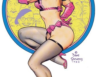 Bettie Page Pin-Up Girl by Dave Stevens 11 x 17 Fine Art Print