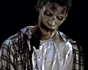 Zombie brow cheekbone prosthetic