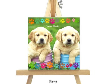 12cm x 12cm Personalized Canvas with Easel - Nature