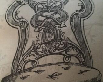 Victorian chair pillow