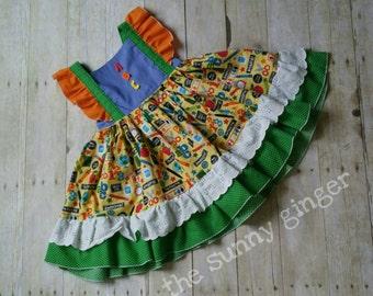 Custom Nova Style Dress, Custom Girls Boutique Dress, CKC Nova, Matching Bloomers, Ruffle Dress, Flutter Sleeve, Holiday & Birthday Dress