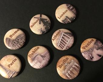 Travel Magnets (Set of 8)
