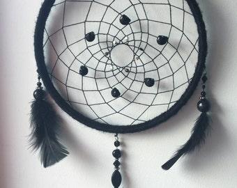 Black Gothic Hanging Dream Catcher skulls nightmare midnight dark