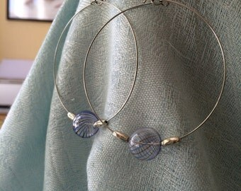 One of a Kind Glass Bead Hoops