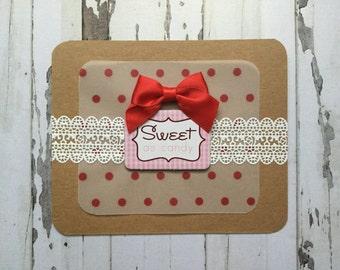 Handmade Life Is Sweet Card Set (2 cards)