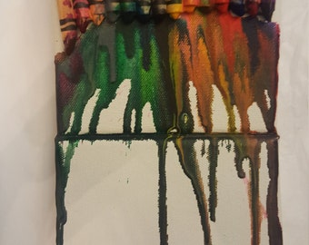 Melted Crayon Wall Piece
