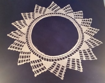 Ivory Crocheted Ring Doily