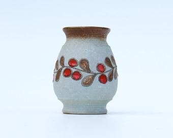 W. Germany Fat Lava ceramic vase-7427 Strehla GDR-Retro