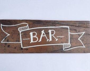 Bar banner sign