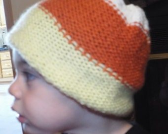 Knitted Candy Corn Beanie