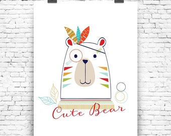 Art Print Cute Bear No2