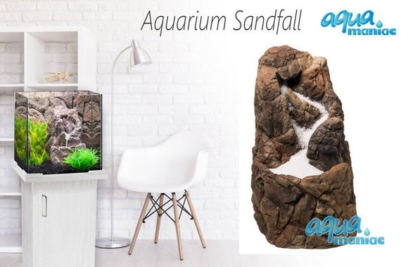 aquarium sand wasserfall einbaufertig von aquariumdecoration. Black Bedroom Furniture Sets. Home Design Ideas