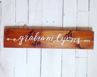 Rustic Baby Name Sign