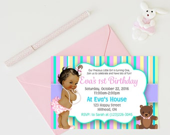 Babys first birthday Invitations Baby Birthday Party 1st Birthday Party Invites, Birthday Invitations Girl
