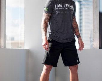 I AM. I TRAIN. Tshirt, Workout Tee Shirt, Fitness Tshirt, Fitness Motivation Shirt, Fitness Top