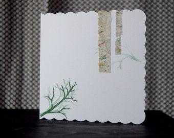Handmade Woodland Greeting Card
