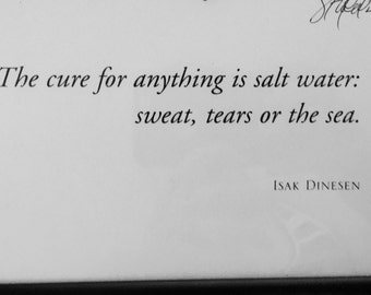 Salt water is the cure for everything....