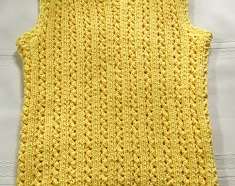 Knit Yellow Tank Top