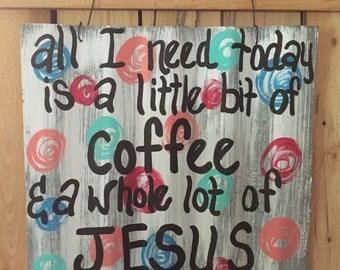 Coffee sign, tin sign