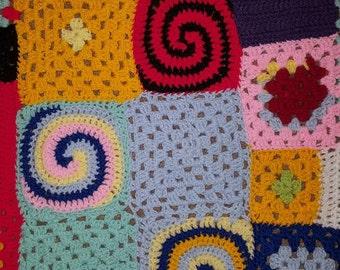 Handmade patchwork baby blanket