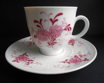 Seltmann Weiden, Annabell Pattern, Bavaria West Germany, Pink Floral Teacup And Saucer