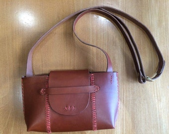 Handstitched Japanese Leather Shoulder Bag