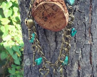 Key Stone Charm Bracelet