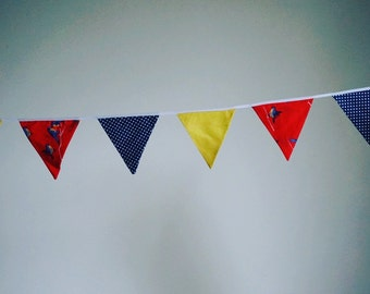 Bunting - birds, red, blue
