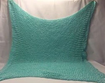 Handmade Mint Green Crochet Baby Blanket