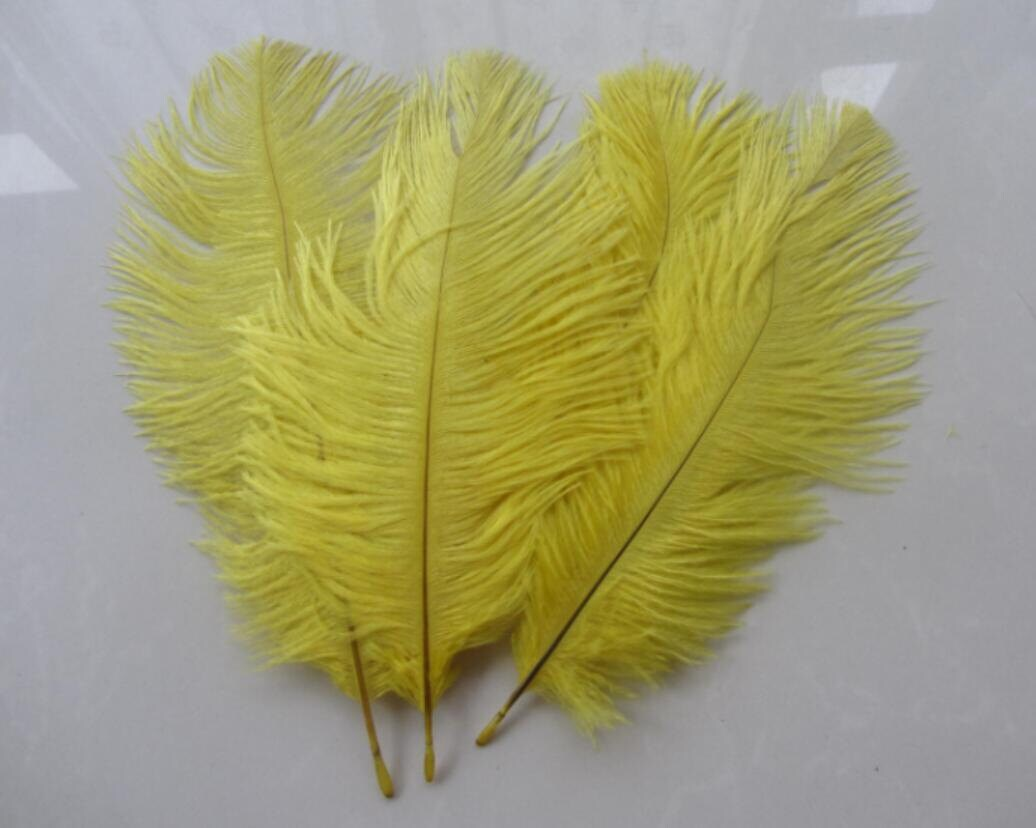Yellow ostrich feathers for handmade items feather