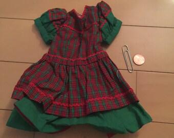 Plaid doll dress