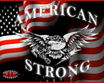 American Strong Custom Motorcycle Flag