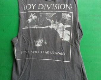 Joy Division Love Will Tear Us Apart True 1980s Vintage T-Shirt