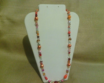 383 Autumn Leaves Beaded Necklace