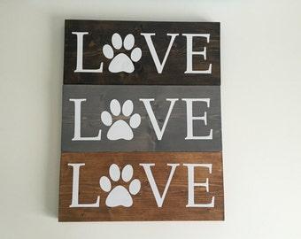 Love Paw Print Board